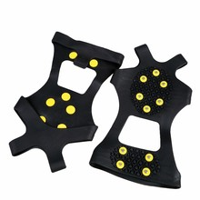 1pair S/M/L/XL Over Shoe Studded Snow Grips Ice Grips Anti Slip Snow Shoes Crampons Winter Anti Slip Ice Cleats outdoor tool