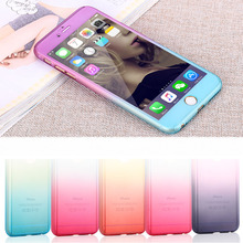 Hot! For 5 5S Complete coverage of 360 degrees back cover Case For iPhone 5 5S SE 6 6S 4.7 / 6 6S Plus 5.5 + free screen glass