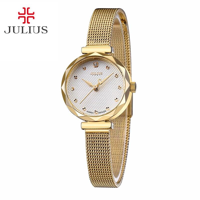 Top Julius Lady Womens Wrist Watch Fashion Hours Dress Stainless Steel Bracelet Chain Cutting School Girl Birthday Gift JA-829<br><br>Aliexpress