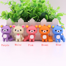 Free Shipping Lovely Rilakkuma Bear Style USB flash drive Pen stick memory U disk 4GB 8GB 16GB 32GB Pen drive