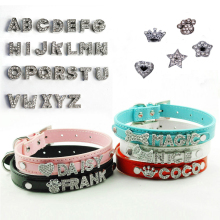 Bling Dog Cat Pet Personalized Leather Name Collar Chihuahua Yorkie Dachshund French Bulldog Boston Terrier Labrador Husky Boxer(China)