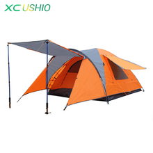 High Quality 4 Person Large Space Double Layer Outdoor Camping Tent for Hiking Fishing Hunting Adventure Fast Shipping