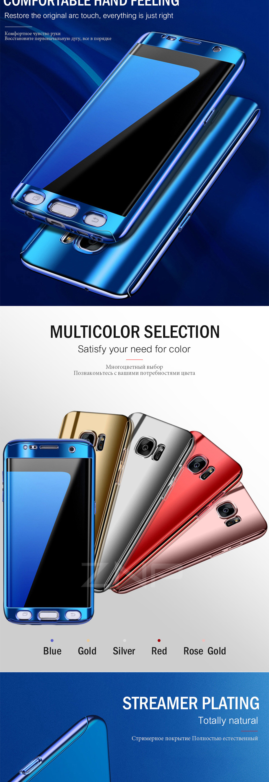 ZNP Luxury 360 Full Phone Case For Samsung Galaxy S9 S8 Plus Note 8 Bling Mirror Cover Cases For Samsung S7 Edge S9 S8 S7 Case 2
