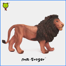 Mr.Froger Lion Model Toy Wild animals toys set Zoo modeling plastic Solid mammal Classic Toys Children Animal Model cute king