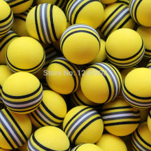 Free Shipping Hot NEW 30pcs/bag EVA Foam Golf Balls Yellow Rainbow Sponge Indoor Practice Training Aid