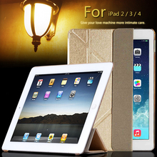 new For apple ipad 2 3 4 ipad2 ipad3 case table Smart Cover Slim Magnetic PU Leather Stand Cases
