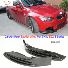 E92 Carbon Fiber Front Bumper Side Splitter for BMW E92 M-tech Bumper 2005 - 2009 Auto Racing Car Styling Front Splitters Apron