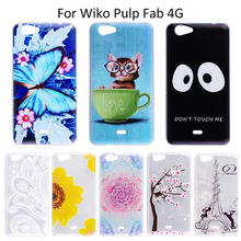 Mobile phone cases For Wiko Pulp FAB 4Gcase Silicon Cute lovely Girl Design painted Cases Cover Coque Wiko Pulp FAB 4G Fundas