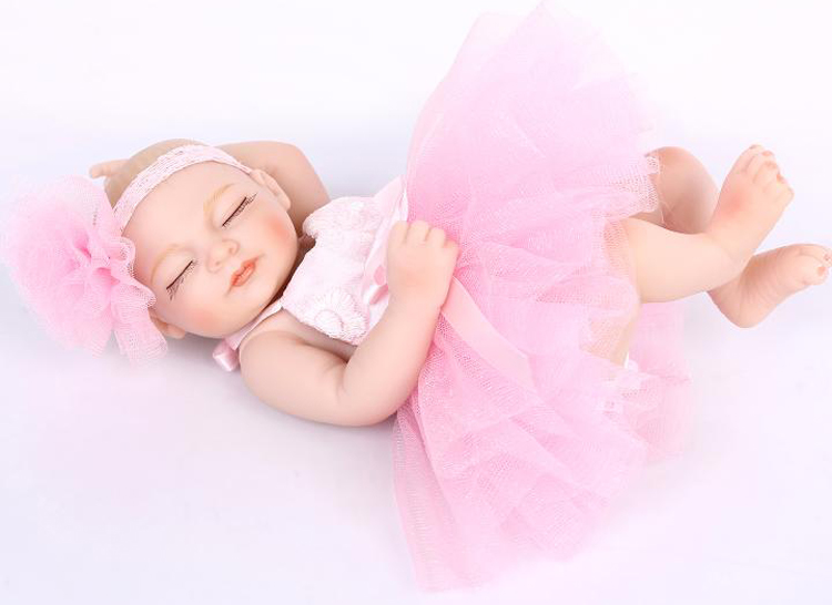 26CM full silicone reborn baby dolls lifelike Mini Baby Reborn Toddler Dolls  bonecas children toys girls gift<br><br>Aliexpress