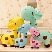 2016 new 25cm Cute Plush Giraffe Toys Soft Colorful Animal Dear Doll Kawaii Spot Toy for Baby Kids Children Girls Birthday Gift