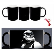 Magic Mug Star Wars Custom Photo Heat Color Changing Morph Mug 300ML Coffee Cup Beer Milk Mug With Cookie Gift Wholesale Cheap