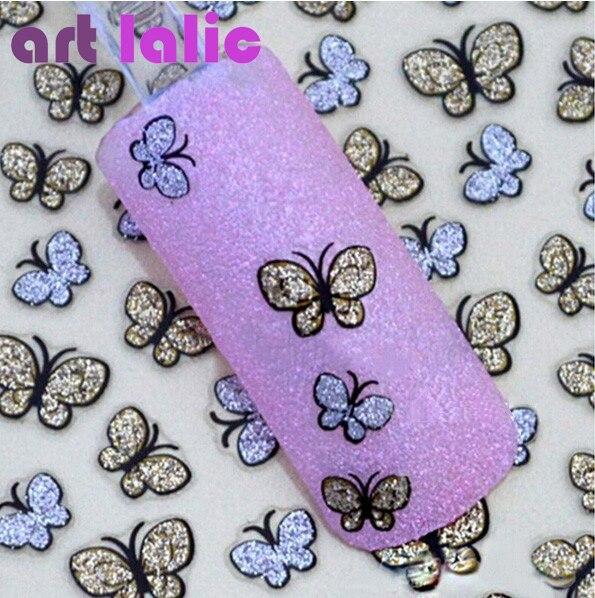 3D Butterfly Nail Art Shinning Glitter Stickers DIY Nail Sticker Decals Nail Art Accessories<br><br>Aliexpress