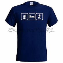 Eat Sleep Skateboard Mens Funny T Shirt Skate Board Boarding BMX Hawkes(China)
