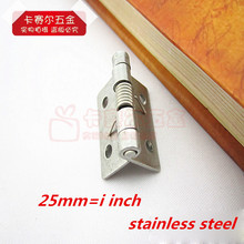 10pcs/lot 1in Stainless Steel Small Spring Hinges Automatic Closed Jewelry Box Hinge Spring Loaded Hinge
