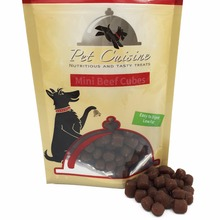 All Natural Pet Dog Treats Health Dog Snack Puppy Chews Small Dog Food,Mini Beef Cubes 100g*2