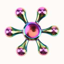 Buy Rainbow Fidget Spinner Metal Creative Handspinner EDC Fidget Toy Figet spiner Autism ADHD Kids Anti Stress Relif Toy for $1.36 in AliExpress store