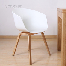 FREE SHIPPING Macey Dining Chair Modern Fashion wooden foot chair Dining room furniture PP seat with wood leg