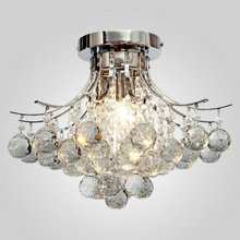 MAMEI MAMEI Free Shipping 110-240V Comtemporary K9 Crystal Ceiling Light Bedroom Light From Manufacture Sales In Fast Delivery(China)