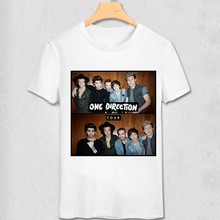 One Direction T shirt Louis Tomlinson Niall Horan Liam Payne Harry Styles Pop Music Stars Fans T-shirt 1D Casual Funny shirt(China)