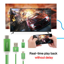HDTV Micro Usb to HDMI Adapter HDMI Cable for Samsung Galaxy Sony HTC Huawei LG Xiaomi Android Phone 1080P TV Receiver Converter(China)