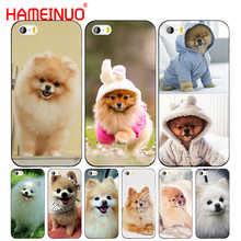 HAMEINUO dogs perro pomeranian puppy cute cell phone Cover case for iphone 6 4 4s 5 5s SE 5c 6 6s 7 8 plus case for iphone 7 X(China)