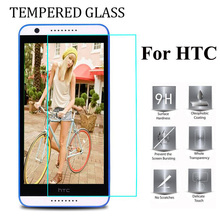 9H Tempered Glass For HTC M7 M10 One 2 M8 mini M9 Plus one max 626 320 620 728 828 530 830 A9 X9 S9 Cover Case Protective Film(China)