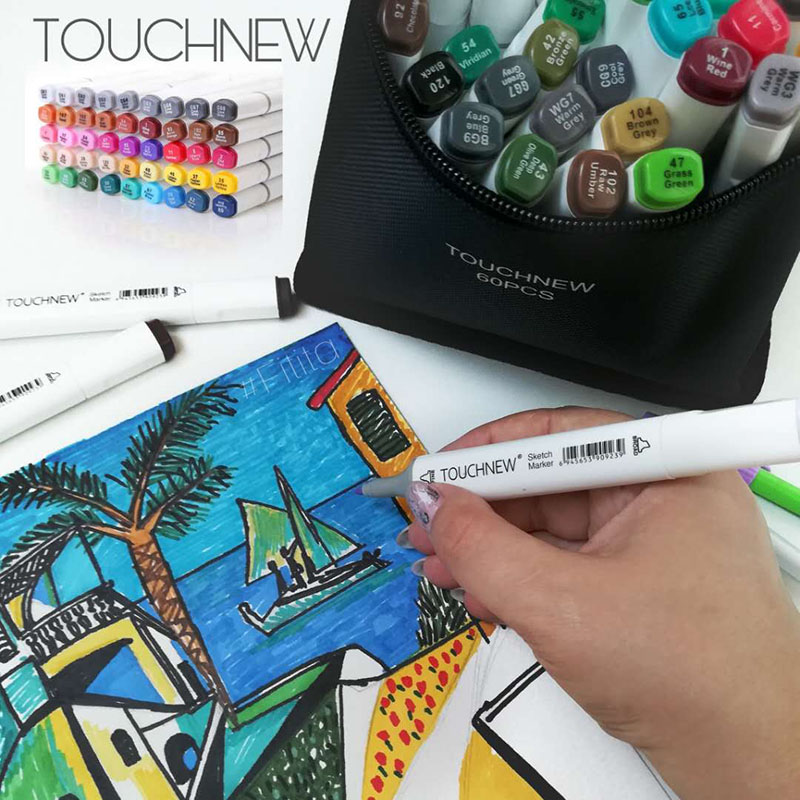 60/80/168 Colors Markers Pen Painting Manga Art Marker Set Stationery Pen For School Sketch Markers brush pen art supplies