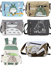 Ecoparty Sling Pack My Neighbor Totoro Cosplay Anime My Neighbor Totoro Messenger Canvas Bag Shoulder Bag(China)