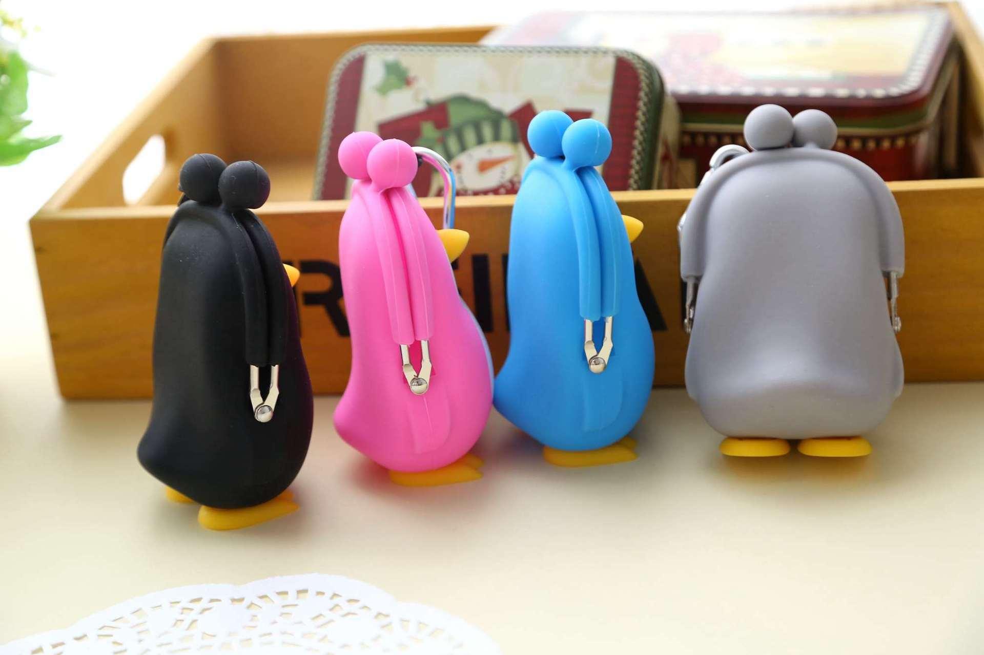 2019 Kawaii Pinguin Tasche Nette Silica Gel Geldbörse Halter Cartoon Tier Haspe Kleine Brieftasche Mädchen Ändern Geldbörse Kid Geschenk taschen