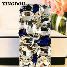 XINGDUO Bling Crystal Diamonds Hard Back Case Cover for iphone 7/7Plus/5/5S/6/6S Plus for Samsung Galaxy Note7 5 4 3 S7 S7edge(China)
