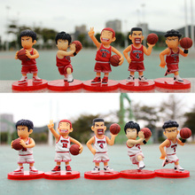 Good PVC Play Basketball 3 Teams Slamdunk Action Figure Anime Keychain Pendant Charms Boy Toy Gift full set free shipping(China)