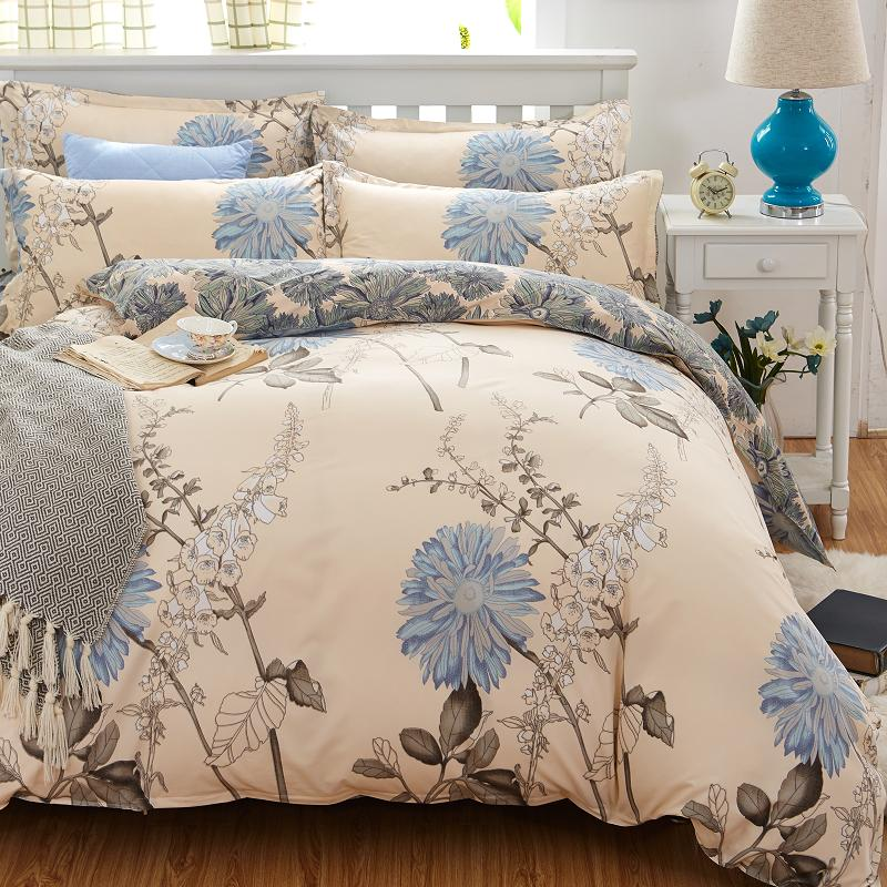 Home Textiles cotton 4pcs Bedding Set Bedclothes include Duvet Cover Bed Sheet Pillowcase Comforter Bedding Sets Bed Linen(China)