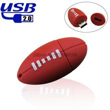Pen drive American Football Sports Rugby U Disk 4GB 8GB 16GB 32GB USB Flash Drive 2.0 Memory Drive Stick Pendrive Creative gift