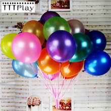 High Quality 10pcs/lot 12-inch 2.8g White Latex Balloon Inflatable Air Balls Wedding Decoration Birthday Party Balloons Supplies(China)