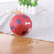 Pets Dog Toy Eco-friendly Rubber Ball Toys Goods for Dog food leaking Balls Chew Toys Training Food Control Lose Weight(China)