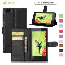 Limelan For BlackBerry Leap , Luxury Litchi Wallet PU Leather Phone Case for Black Berry Leap Cover Skin Bag Fundas Coque Capa