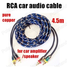 Speaker wire for car amplifier speaker the best price Car audio Cable Stereo wire speaker wire pearl blue 4.5m pure copper(China)