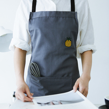 Sleeveless apron men women embroidery cotton cactus cloth kitchen anti - pollution work clothes cafe shop work wear overalls(China)