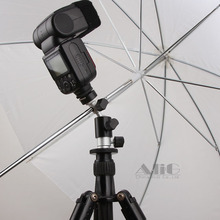 (D) Camera Flash Bracket Hot Shoe Umbrella Holder Swivel Light Stand Adapter Photo Studio Accessories