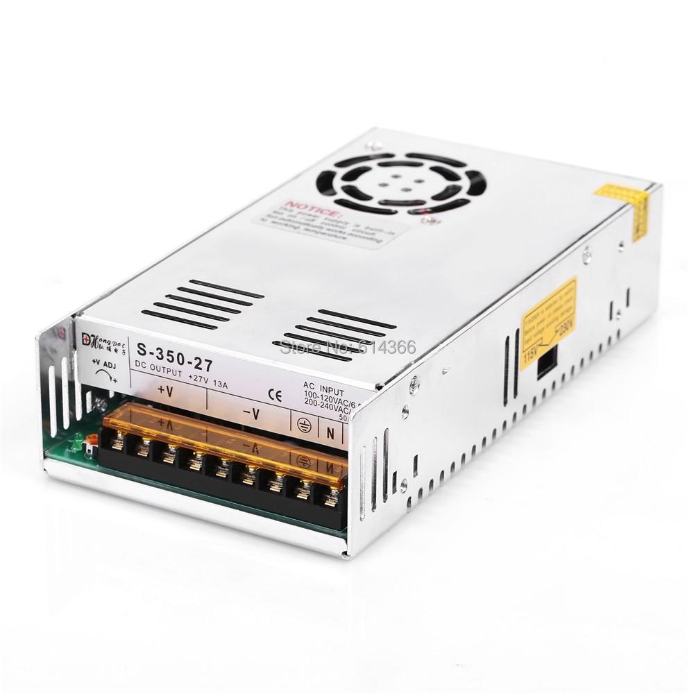 1PCS 350W 27V Power Supply 27V 13A AC-DC High-Power PSU 350W 90-264VAC S-350-27 DC27V<br>