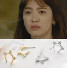 EJ 071 The sun descended Kyo Korean flower ring jewelry brand Huajiu will gold earrings female factory direct