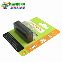 MINI OBD2 V4.0 Newest ELM327 OBDII OBD2 EOBD Code Scanner for iOS/ Android/ Windows Car Diagnostic Interface(China)