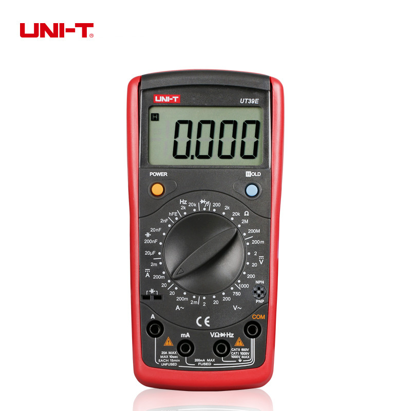 UNI-T UT39E General Manual Range Digital Multimeters 19999 Count Transistor Resistance Capacitance Frequency Meter<br>