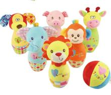 Cartoon animal Bowling Ball bottle balls Game plush toy Baby kids Intellectual sport campaign interactive game gift