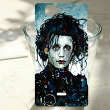 For wiko Rainbow Lenny 2 ridge 4G Pulp 4G Rainbow Jam sunset 2 Johnny Depp scissors hands case Painted Phone Case Cover
