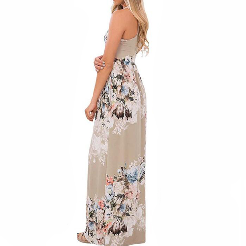 Boho Floral Printed Sundress O-neck Summer Sexy Pleated Maxi Dress 2017 Casual Beachwear Femininos Vestidos Plus Size LX328 11