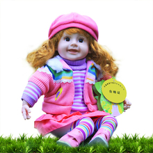 Princess girl interactive doll attractive cute silicon electric touch sensor baby doll toy 35cm for brithday christmas gift