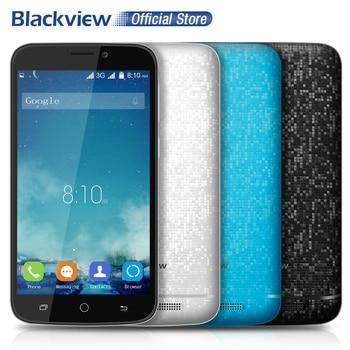 Blackview A5 Mobile Téléphone 4.5 pouce 854x480 IPS MTK6580 Quad Core Android 6.0 1 GB RAM 8 GB ROM 5MP CAM 3G WCDMA Double SiM Téléphone Portable