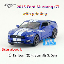 KINSMART Die Cast Metal Models/1:38 Scale/2015 Ford Mustang GT with printing toys/for children's gifts or for collections