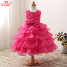 Baby School Evening Prom Dress For Toddler Girl 3-8 Years Birthday Outfits Fluffy Kids Party Wear Clothes Girl Formal Vestidos